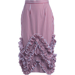 Clothing Women Skirts Milla Milla pink and white skirt with rouches Red