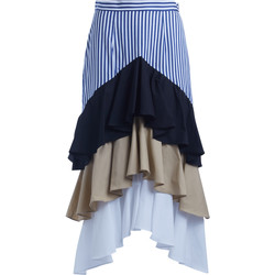 Clothing Women Skirts Milla Milla multicolor skirt with volant Multicolour
