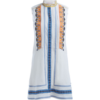 Clothing Women Dresses Tory Burch Adriana white cotton dress with embroidery White