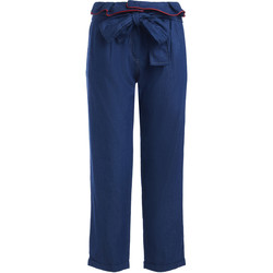 Clothing Women Trousers Se-Ta blue trousers with belt rouches Blue