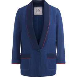 Clothing Women Jackets Se-Ta blue blazer with red borders Blue