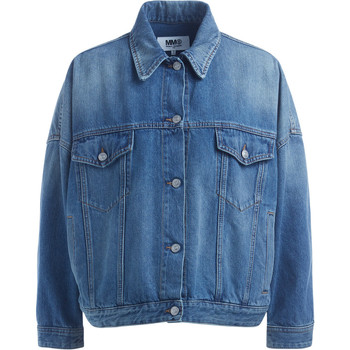 Clothing Women Jackets Mm6 Maison Margiela Cocoon blue denim jacket Blue