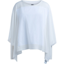 Clothing Women Tops / Blouses Mm6 Maison Margiela Blouse in ivory cotton poncho style White