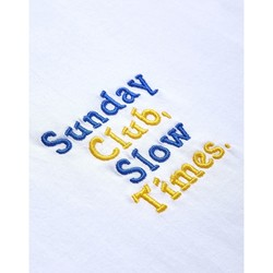 Clothing Men T-shirts & Polo shirts The Idle Man Sunday Club Slow Times Embroidery T-Shirt White White