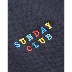 Clothing Men jumpers The Idle Man Sunday Club Embroidery Sweatshirt Black Black
