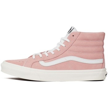 Shoes Women Hi top trainers Vans SK8HI Slim White-Pink