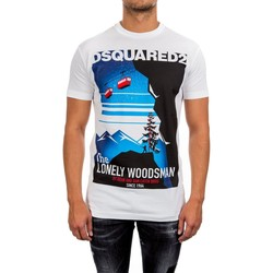 Clothing Men short-sleeved t-shirts Dsquared - Men's T-shirt S71GD0559 blanc