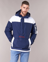 Clothing Men Jackets Columbia CHALLENGER PULLOVER Marine / White
