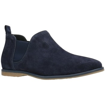 Shoes Men Mid boots Gino Rossi Ankel-Boots MSV706 Navy blue Man Spring/Summer Collection 2018 Navy blue