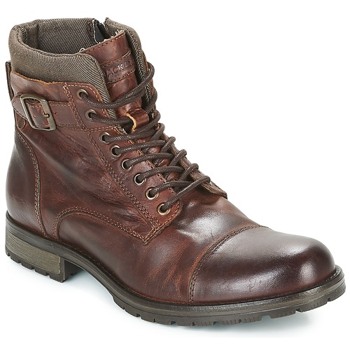 Shoes Men Mid boots Jack & Jones ALBANY LEATHER Brown