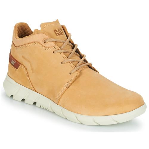 Shoes Men Mid boots Caterpillar HENDON Beige / Wheat