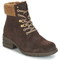 Shoes Women Ankle boots Caterpillar CORA FUR Dark / Brown