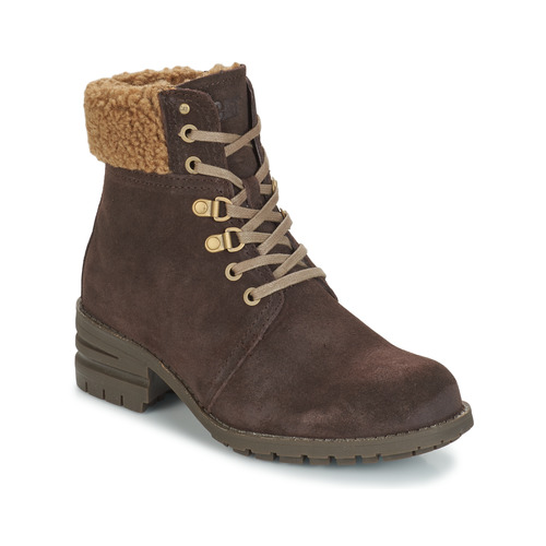 Shoes Women Ankle boots Caterpillar CORA FUR Dark / Brown