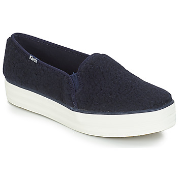 Shoes Women Slip ons Keds TRIPLE DECKER FAUX SHEARLING Navy