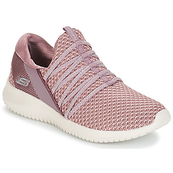 Shoes Women Low top trainers Skechers ULTRA FLEX BRIGHT FUTURE Mauve