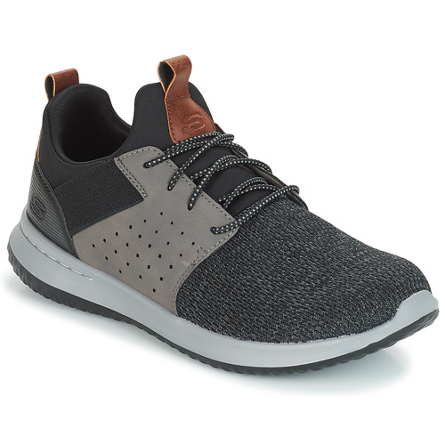 Shoes Men Low top trainers Skechers DELSON CAMBEN Grey