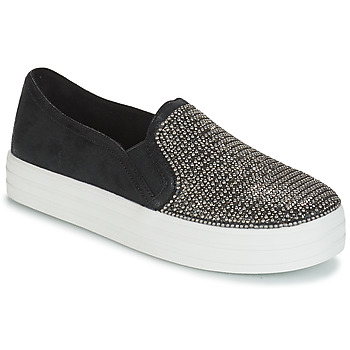 Shoes Women Slip ons Skechers DOUBLE UP SHINY DANCER  black / Glitter