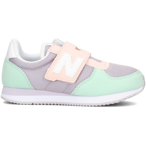 Shoes Children Low top trainers New Balance 220 Grey-Pink-Turquoise