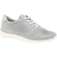 Shoes Women Low top trainers Marco Tozzi Donatello Womens Perforated Sports Trainers grey