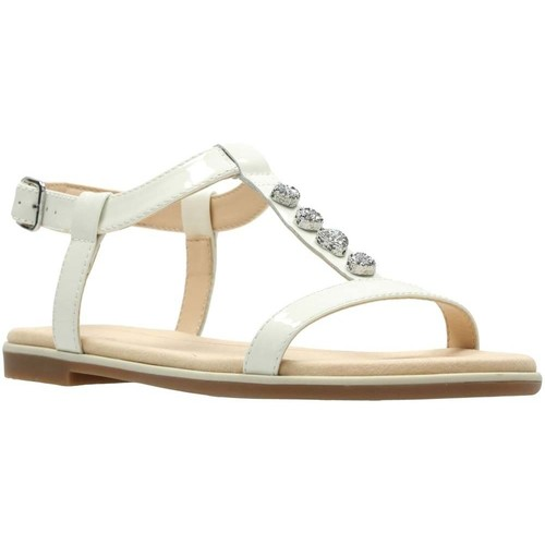 Shoes Women Sandals Clarks Bay Blossom Womens Sandals white