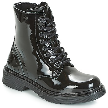 Shoes Girl Mid boots Bullboxer LANA  black / Patent