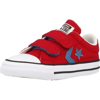 Shoes Children Low top trainers Converse STAR PLAYER 2V OX Red