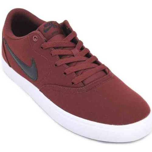 Shoes Men Low top trainers Nike SB Check Solar CNVS 843896 Men's Sneakers red