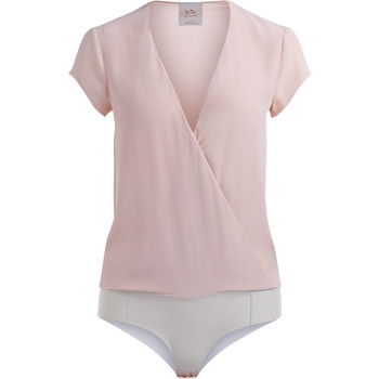 Clothing Women Tops / Blouses Se-Ta nude crisscross body Pink