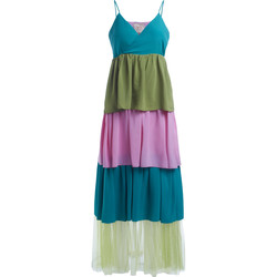 Clothing Women Dresses Se-Ta multicolor flounce dress Multicolour