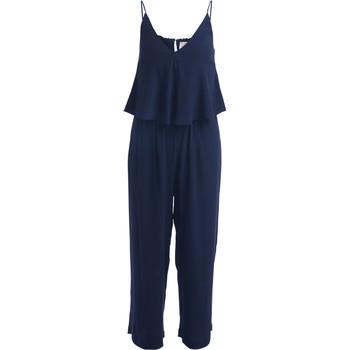 Clothing Women Jumpsuits / Dungarees Se-Ta blue jumpsuit with wide top and trousers Blue