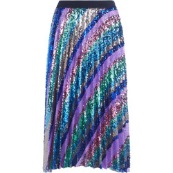 Clothing Women Skirts Se-Ta multicolor sequins pleated skirt Multicolour