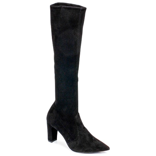 Shoes Women High boots Perlato JEANY Cam / Strech / Black
