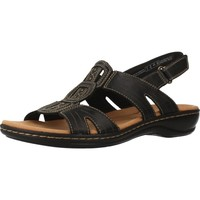 Shoes Women Sandals Clarks LEISA VINE BLACK LEATHER Black