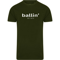 Clothing Men short-sleeved t-shirts Ballin Est. 2013 Basic Shirt Green