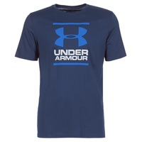 Clothing Men short-sleeved t-shirts Under Armour UA GL FOUNDATION SS T Marine
