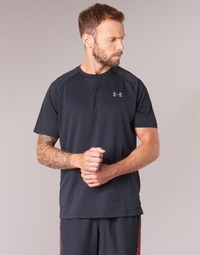 Clothing Men short-sleeved t-shirts Under Armour UA TECH SS TEE Black