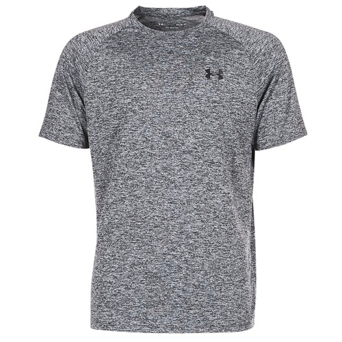 Clothing Men short-sleeved t-shirts Under Armour UA TECH SS TEE Grey