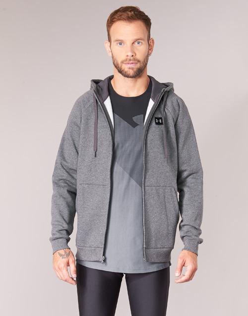 Clothing Men sweaters Under Armour RIVAL FLEECE FZ HOODY Grey