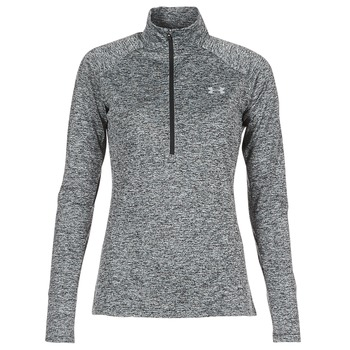 Clothing Women Long sleeved tee-shirts Under Armour TECH 1/2 ZIP TWIST Black
