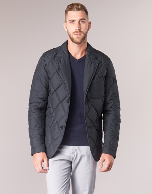 Clothing Men Jackets Vicomte A. ODIN QUILTED BLAZER Marine