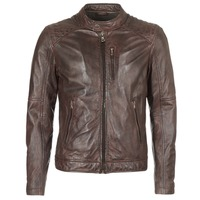 Clothing Men Leather jackets / Imitation leather Oakwood AGENCY Brown
