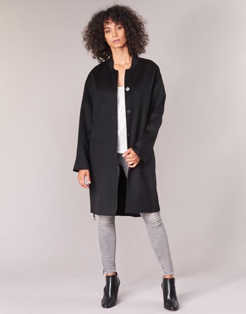 Clothing Women coats Benetton MARBELLO Black