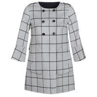 Clothing Women coats Benetton MADJAR Black / Grey