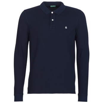 Clothing Men long-sleeved polo shirts Benetton MAZARRI Marine