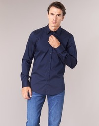 Clothing Men long-sleeved shirts Benetton MAKA Marine