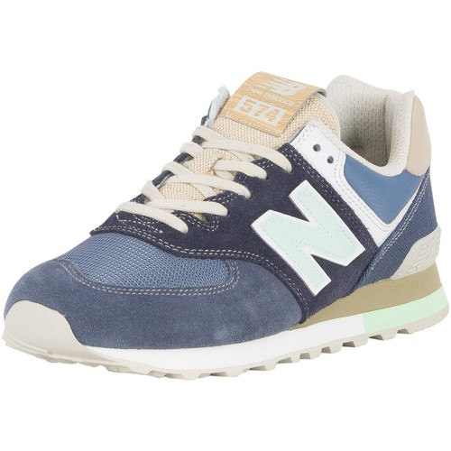 Shoes Men Low top trainers New Balance Men's 574 Suede Trainers, Blue blue