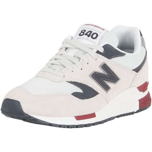 Shoes Men Low top trainers New Balance Men's 840 Suede Trainers, White white