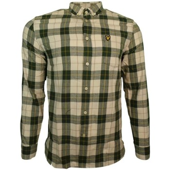 Clothing Men long-sleeved shirts Lyle And Scott Vintage Check Flannel Shirt green