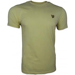 Clothing Men short-sleeved t-shirts Lyle And Scott Vintage Crew Neck T-Shirt yellow