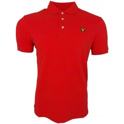 Clothing Men short-sleeved polo shirts Lyle And Scott Vintage Plain Polo Shirt red